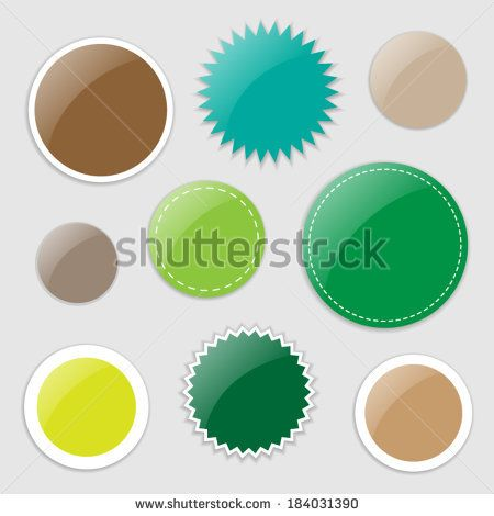 Set of vector stickers - in natural colours | http://www.shutterstock.com/g/ajinak