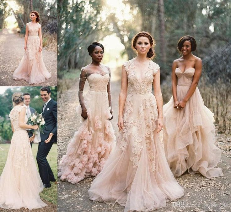 2015 Vintage Lace Appliqued Wedding Dresses Sexy V-Neck Sheer Back A-Line Court Train Tulle Bridal Gowns Online with $109.01/Piece on Kissbridal's Store | DHgate.com