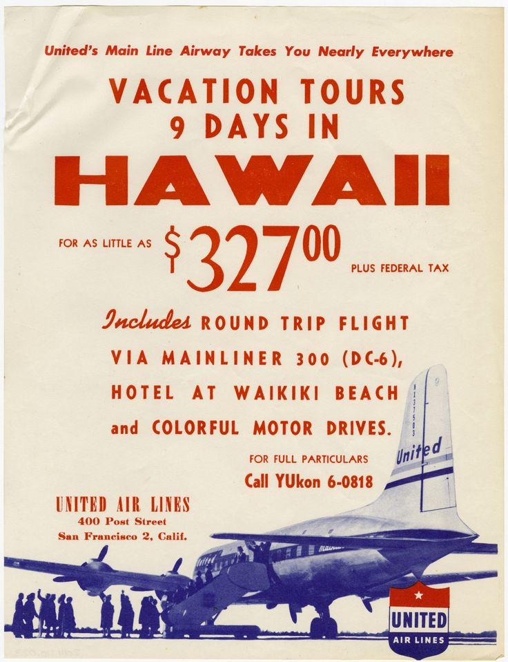 On May 1 1947 United Air Lines Inaugurated Their First Flight To Honolulu In A Douglas Dc 6