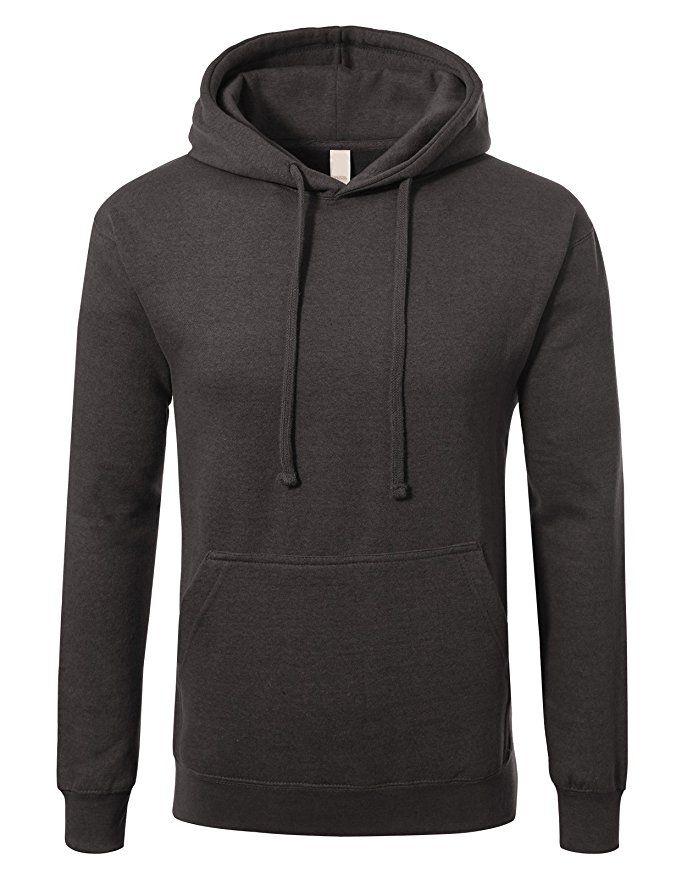 4a5232a57 JD Apparel Men's Premium Heavyweight Pullover Hoodie Sweatshirt S Heather  Charcoal