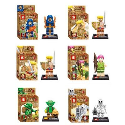 Wholesale - Clash of Clans Block Mini Figure Toys Compatible with Lego Parts 6Pcs Set SY261