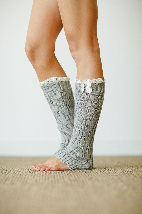 Ruffle Knitted Leg Warmers Boot Topper with by ThreeBirdNest, $28.00