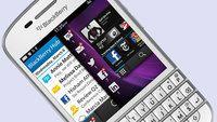 White BlackBerry Q10 hits UK via Carphone Warehouse The BlackBerry Q10 has taken on a lighter hue with the white handset hitting the UK courtesy of Carphone Warehouse.