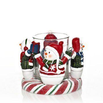 Christmas Snowman Circle Votive Holder Yankee Candle