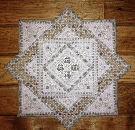 Handstitched Hardanger Centerpiece