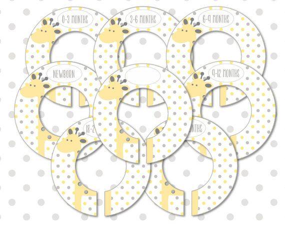 Baby Nursery Closet Organizers and Dividers 8 Printable