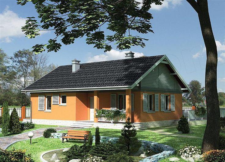 Projekt domu Modrzyk - murowana - silikaty