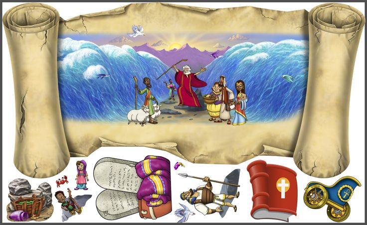 Wacky World Studios - Moses Parts the Red Sea Peel'N'Stick, $149.99 (http://themes-to-go.com/moses-parts-the-red-sea/)