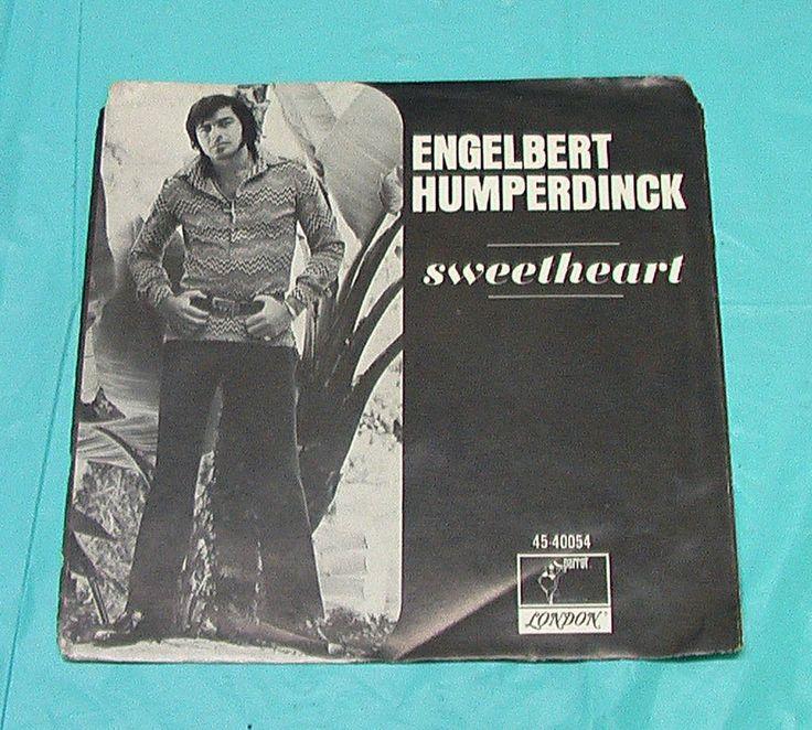 45 Record Sleeve Engelbert Humperdinck Sweetheart Album LP Vinyl Singer Vintage
