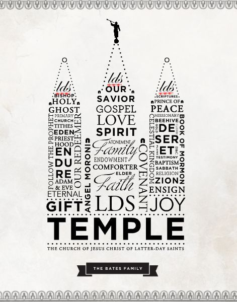 HM Gallery - LDS Temple Word Art