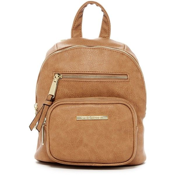 Steve Madden Tish Backpack ($26) ❤ liked on Polyvore featuring bags, backpacks, camel, steve madden backpack, camel backpack, zip pouch bags, zipper pouch bag and day pack backpack