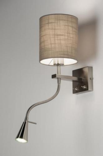 [LED] Bijzonder praktische wandlamp! Op de wandplaat zitten 2 schakelaars; 1 voor het gebruik van de sfeerverlichting en de andere voor het gebruik van de LED-spot als leesverlichting.. In de kleur taupe , grijs , zwart en wit . Voor slaapkamer als bed lamp of bureau lamp. Voor woonkamer bank leeslamp .Home interior lights / online shop : click on this link www.rietveldlicht.nl Gratis verzendkosten