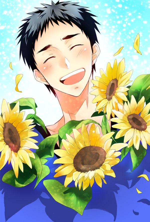 笠松先輩のお誕生日・・・・・・・・・・・・・・・に、ぶっちゃけ間に合わなかった!認める!!大好き!!! 先輩はヒマワリとってもとっても似合うと思うのです。