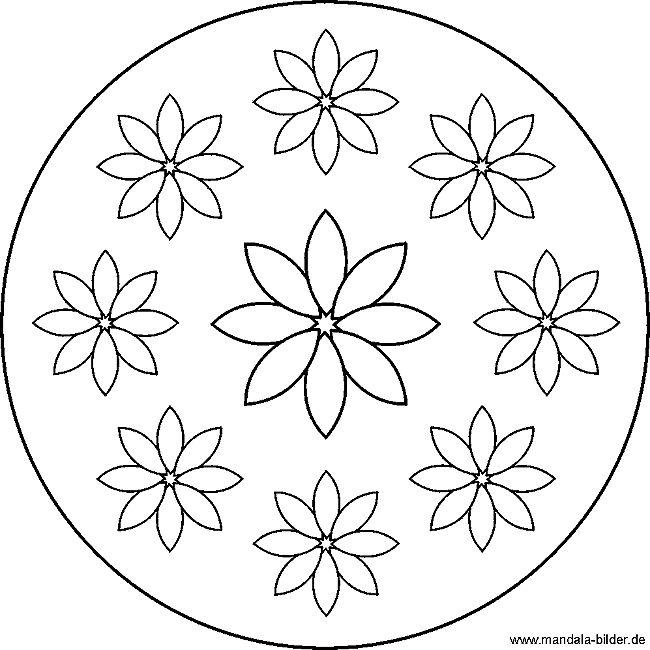 25 einzigartige mandala blumen ideen auf pinterest