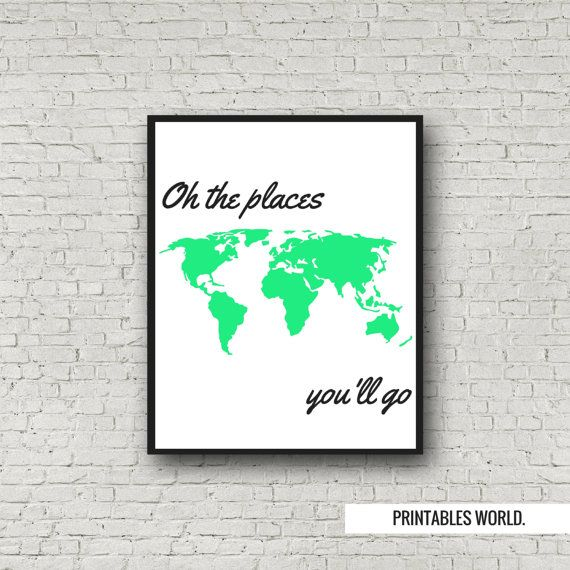 World map Printable Poster Instant Download by PrintablesWorld