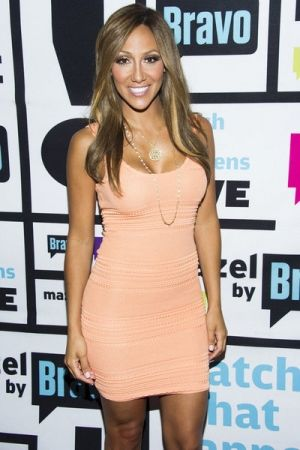 Melissa Gorga-new hair color- brown blonde
