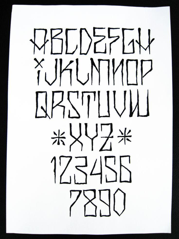 handstyle abecedario - Buscar con Google