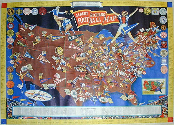 Best Pictorial Maps Images On Pinterest Pictorial Maps - Us college football map
