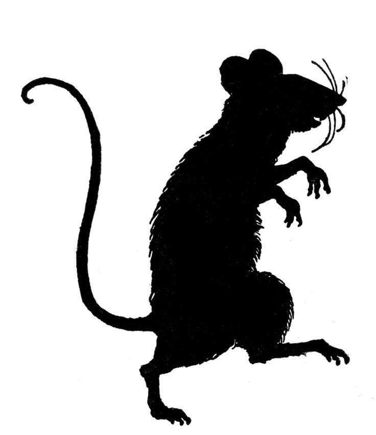 Силуэт крысы картинка