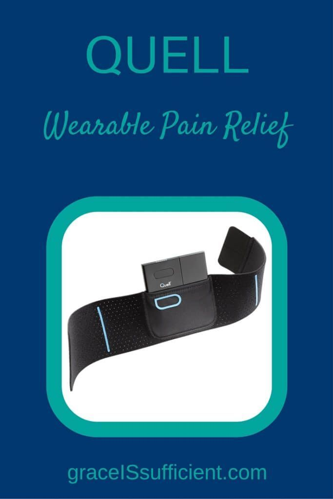I've been wearing this little Quell device around my calf. It's a small device that works using neurotechnology. It stimulates sensory nerves in your calf that carry pulses to your brain and central nervous system. Together they trigger your natural pain relief system that blocks the pain.