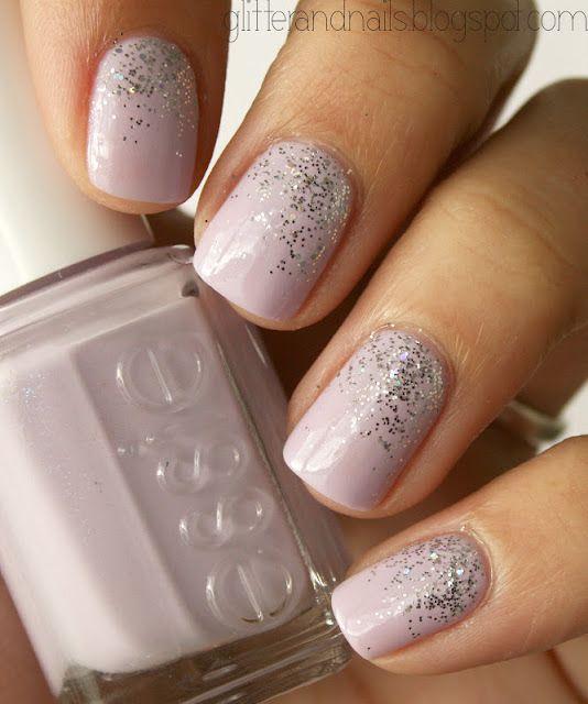 Lavender & Glitter Nails.