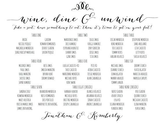 The 25+ best Wedding seating arrangements ideas on Pinterest - printable seating charts