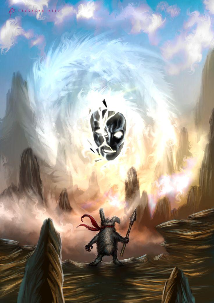 Personal Project: Shakakah and the Grumpy Grunny. #art #artist #artistic #illustrate #illustrator #illustration #illustrative #draw #drawing #sketck #sketchbook #digital #digitalart #digitalpainting #concept #conceptart #conceptual #conceptdesign #fantasy #fantasyart #mask #cgart #environment #rocks #magic #curse