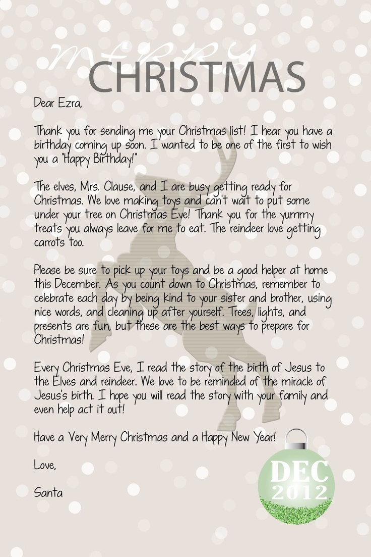 Best Letters From Santa Images On   Christmas Ideas