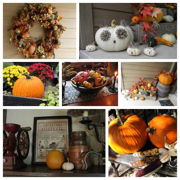 18 ways to add harvest decor to your home:  http://www.hgtv.com/decorating-basics/18-ways-to-add-harvest-decor-to-your-home/pictures/index.html?soc=pinterest
