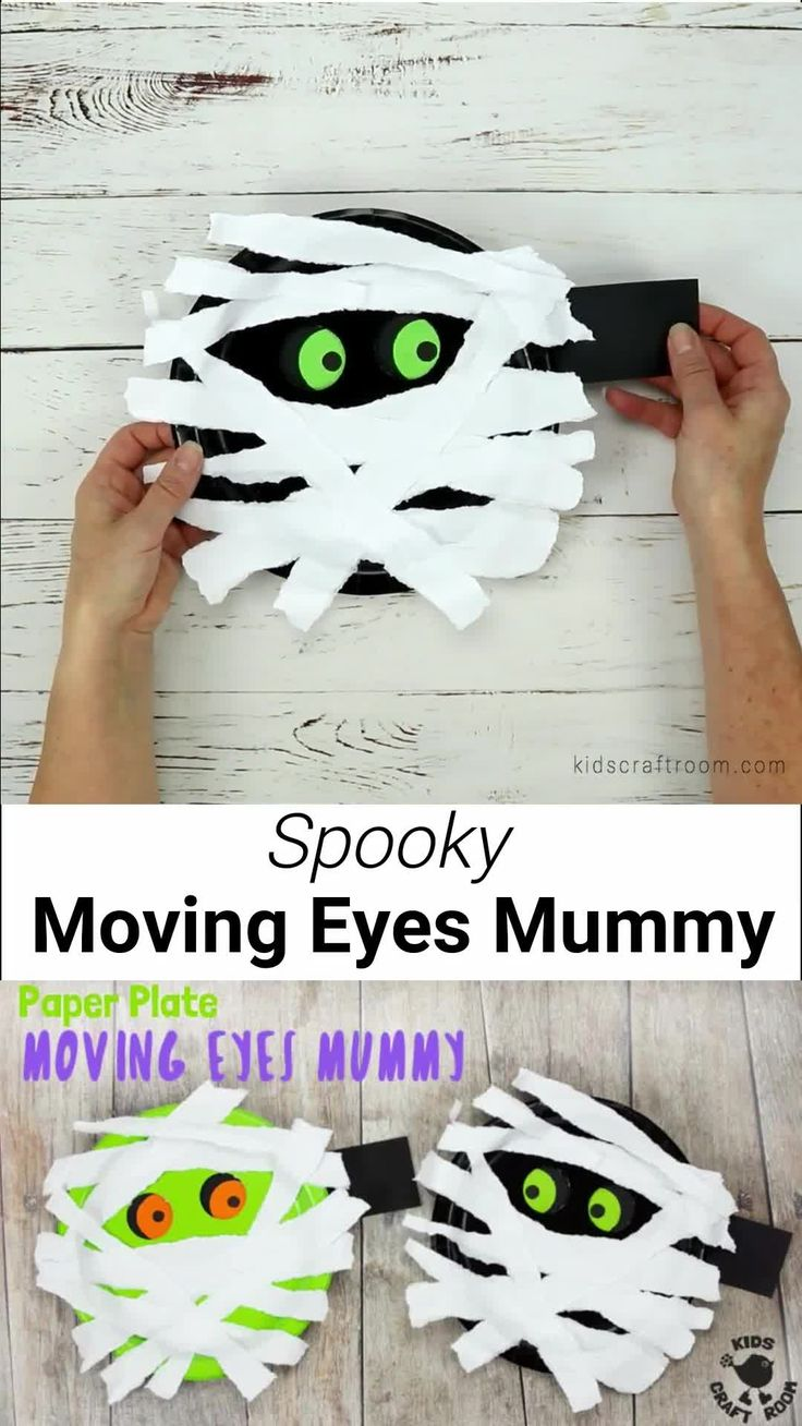 Moving Eyes Paper Plate Mummy Craft