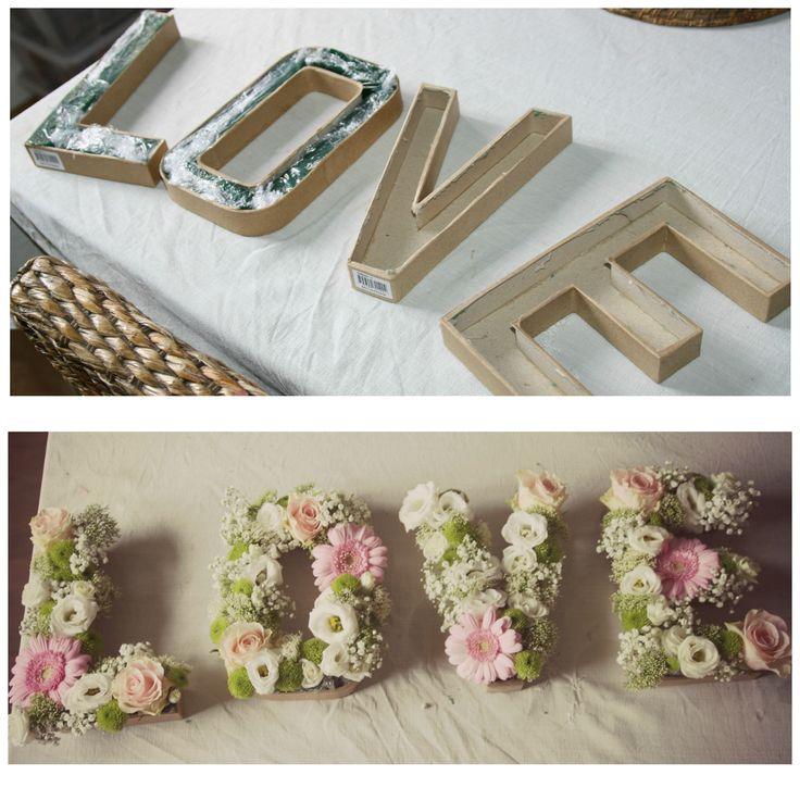 Lettres fleuries mariage champtre 21 best