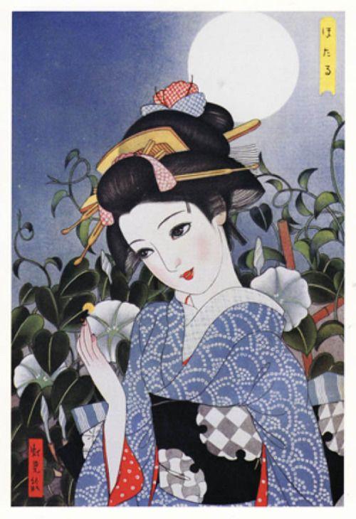 taishou-kun:  Fukiya Koji 蕗谷虹児 (1898-1979) Hotaru ほたる (Firefly) - Rei onna-kai 令女界 magazine illustration, 1939