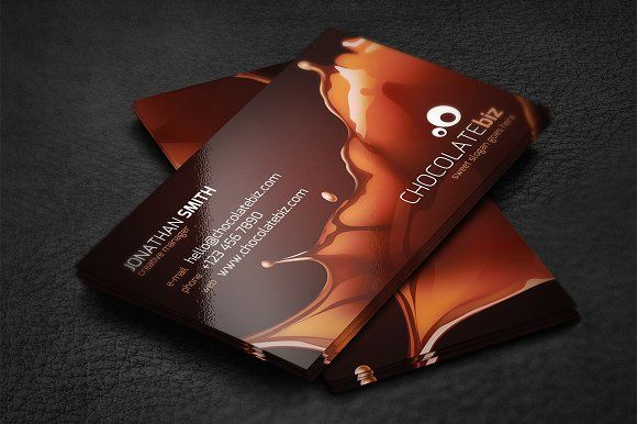Chocolate Business Card Business Card Template Design Business Cards Creative Templates Wine Logo