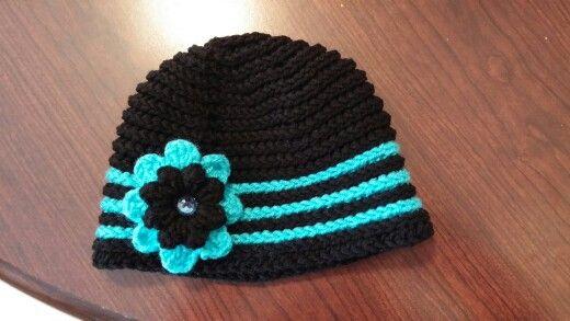 Knit Popcorn Stitch Hat Pattern : Camel stitch crocheted hat with popcorn stitch flower!!! Projects Pintere...