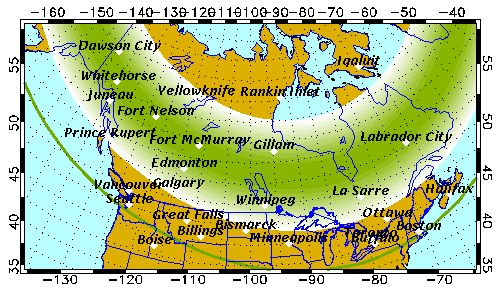 Aurora Forecast for Thursday, 1/9/14.   Possible aurorae visible low on the horizon in Mpls, Chicago, Boston.