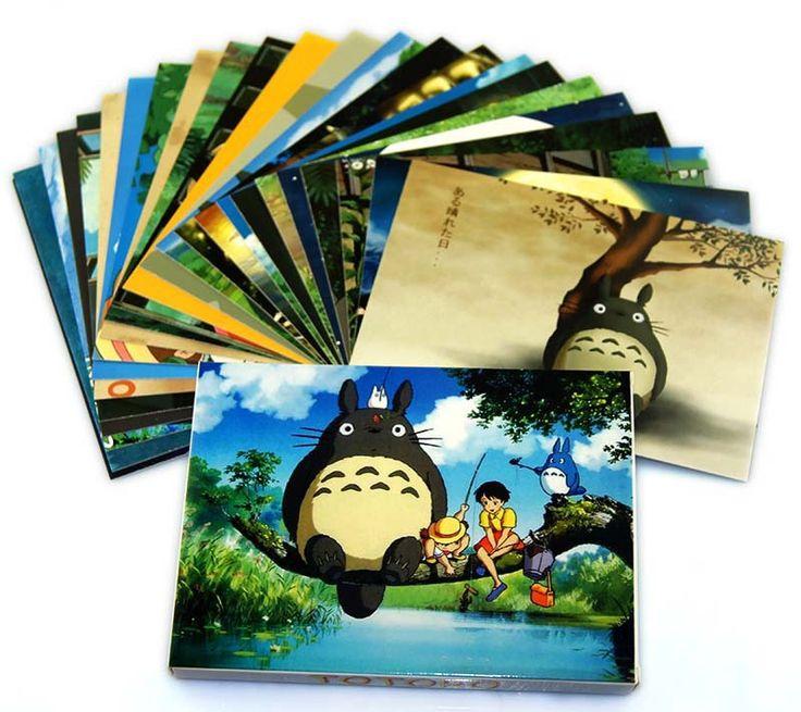 Vind meer Greeting Cards informatie over 48 stuks/set top kwaliteit anime Totoro ansichtkaarten wenskaarten verjaardag van een vriend kerst ansichtkaart gift, Hoge Kwaliteit gift wiki, Chinese gift verpakking Leveranciers, Goedkoop ansichtkaart verzendkosten van Kakashi ' store-Anime House op Aliexpress.com
