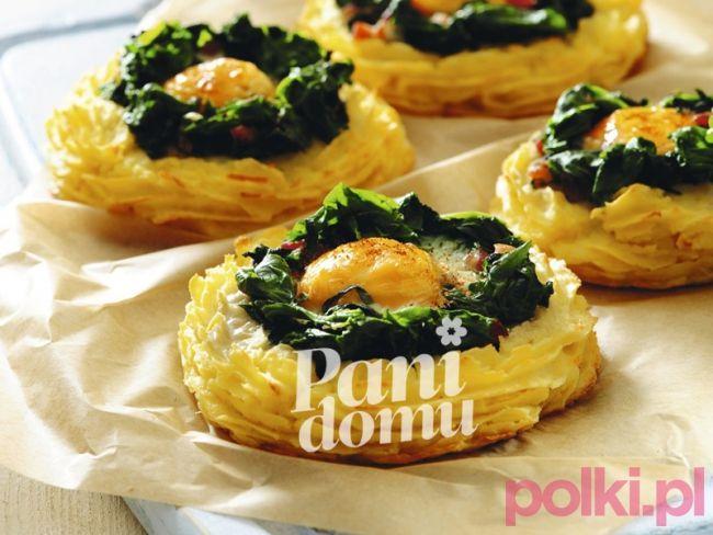 Zapiekanka wielkanocna - przepis na zapiekankę z ziemniaków i szpinaku -Przepisy kulinarne - przepis