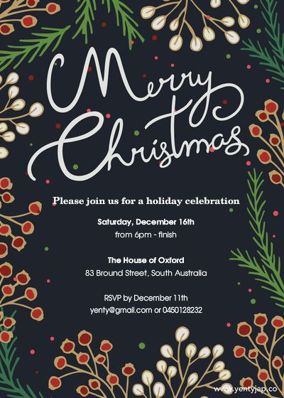Christmas Invitation designed by Yenty Jap on Pingg.com