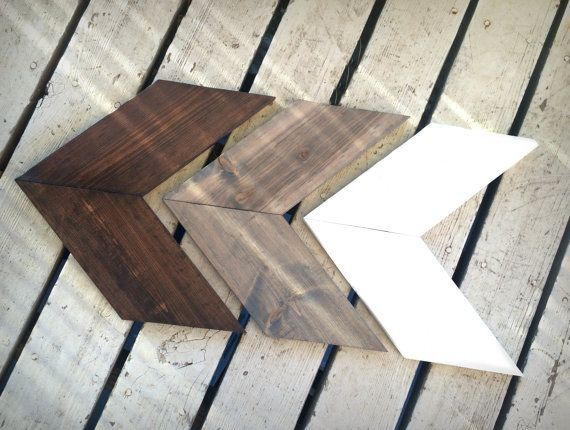 Rustic Wooden Arrow Set, Set of Three Chevron Arrows, Wood Arrow Signs, Woodland Nursery Decor, Rustic Home Decor, Rustic Nursery Decor  Each