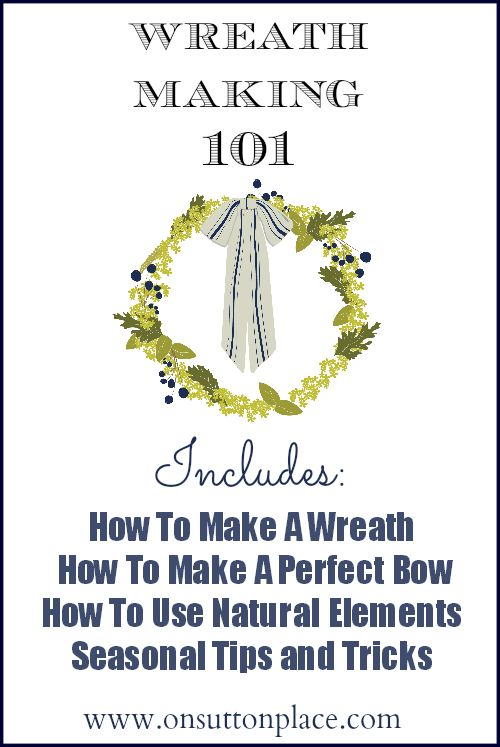 Everything you ever wanted to know about wreath making...and more!