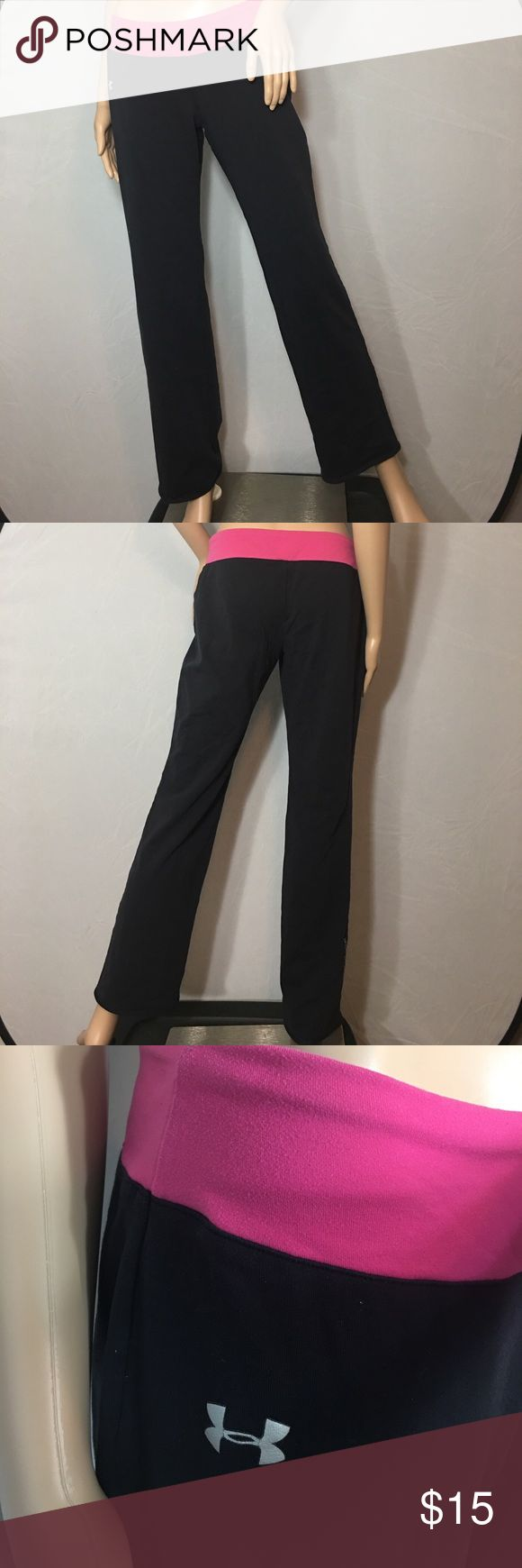 Under Armor Compression Yoga Pant •Sz M Compression pants by Under Armor • These are a little baggy on the mannequin because she's super tiny Under Armour Pants Boot Cut & Flare