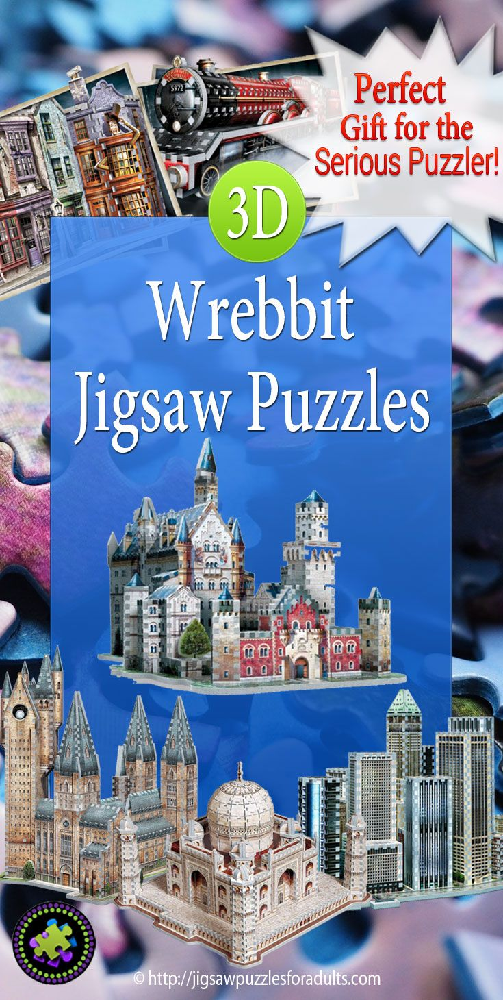 Wrebbit 3D Jigsaw Puzzles are the top of the line when it comes quality, workmanship and 3D jigsaw Puzzle designs. You'll find a fantastic collection of 3D puzzles to challenge the most avid jigsaw puzzler.