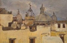 Image showing a view over rooftops