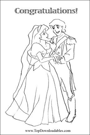 Free Printable Disney Wedding Invitations And Decorations Coloring PagesDisney