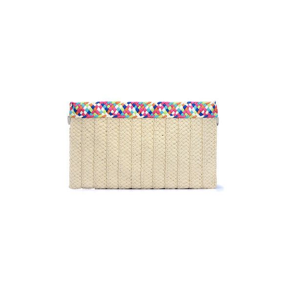 Yoins Woven Straw Clutch Bag in Beige ($16) ❤ liked on Polyvore featuring bags, handbags, clutches, straw clutches, beige purse, brown handbags, braided purse and straw shoulder bag