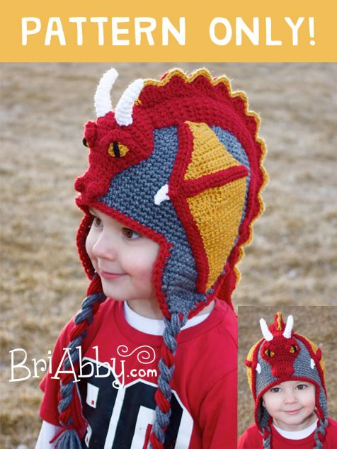 Gorro Crochet Dragón