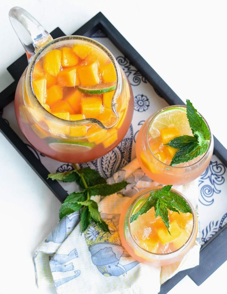 Recipe: Mango Sangria With White Zinfandel and Lychee Liqueur