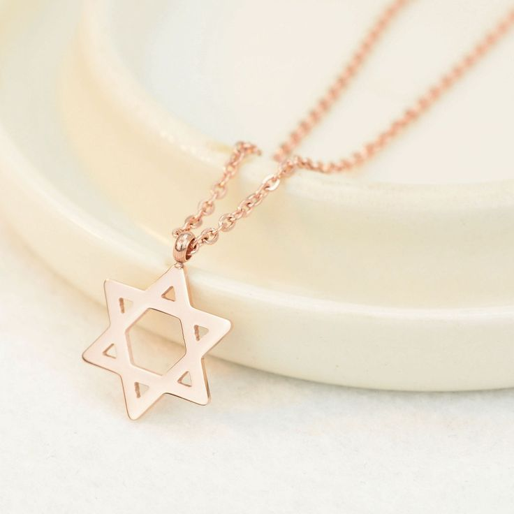 2017 HOT simple style no fade lucky Hexagram Star of David pendant necklace fine women jewelry for women girl 20N009