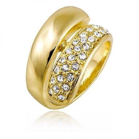 Prosty, a zarazem ciekawy model pierścionka. Błyszczące kryształki nadają mu elegancji :) #biżuteria #MarcoDiamanti