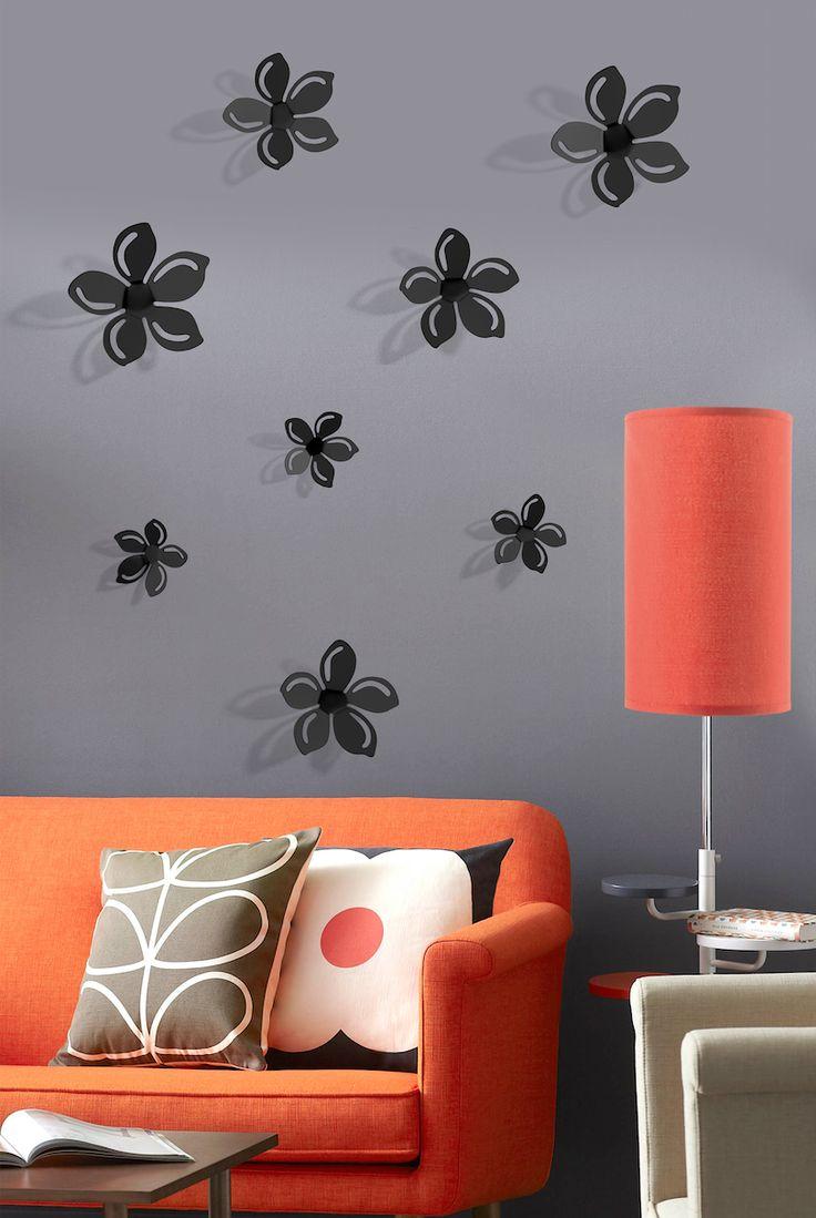 Decoración floral para tu hogar. Dale un giro a tu espacio añadiendo stickers de flores en 3D.